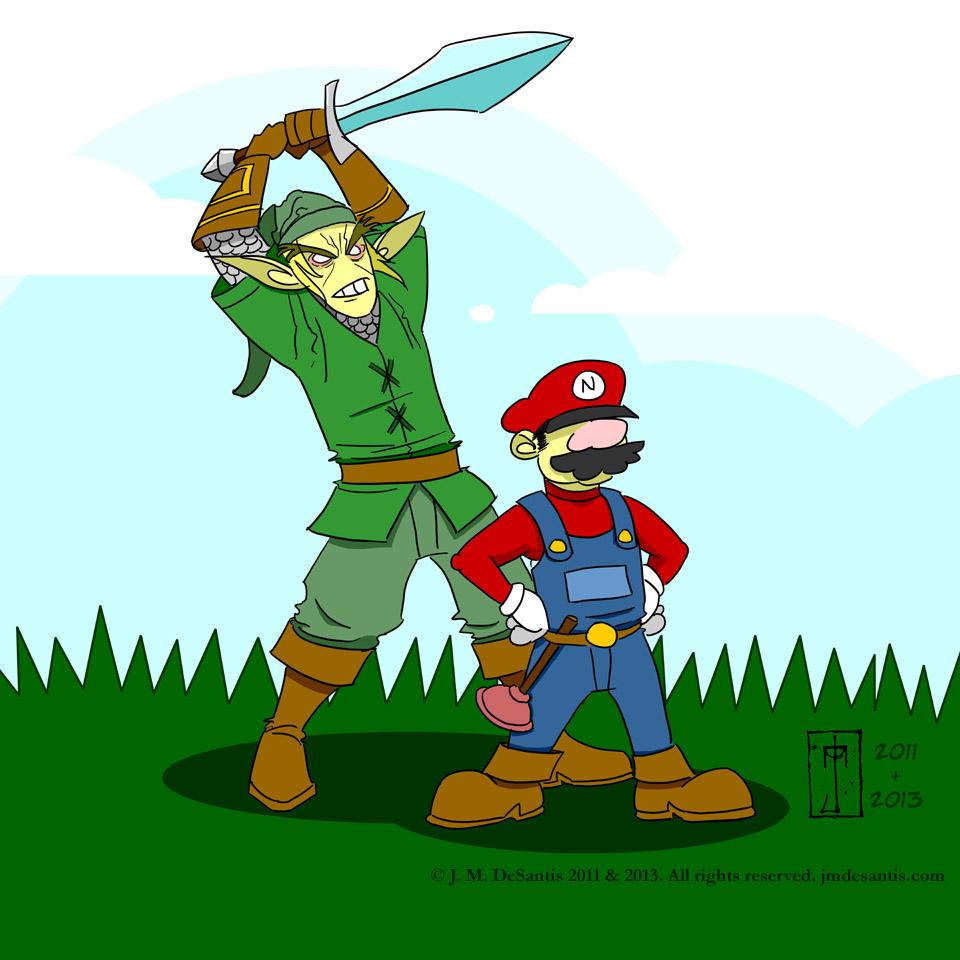 Link vs Mario