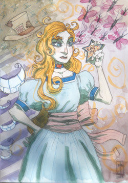 Alice In Wonderland convention sketch NYCC by J. M. DeSantis