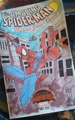 J. M. DeSantis Spiderman sketch cover