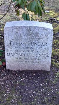Felix L. Ungar grave, Brookside Cemetery, Englewood, NJ