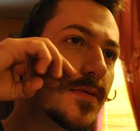 J. M. DeSantis rolling moustache curl