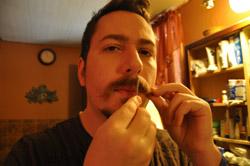 J. M. DeSantis handlebar moustache comb