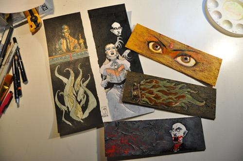 Lovecraft and Vampyre bookmarks art