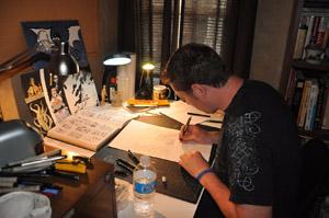 J. M. DeSantis working